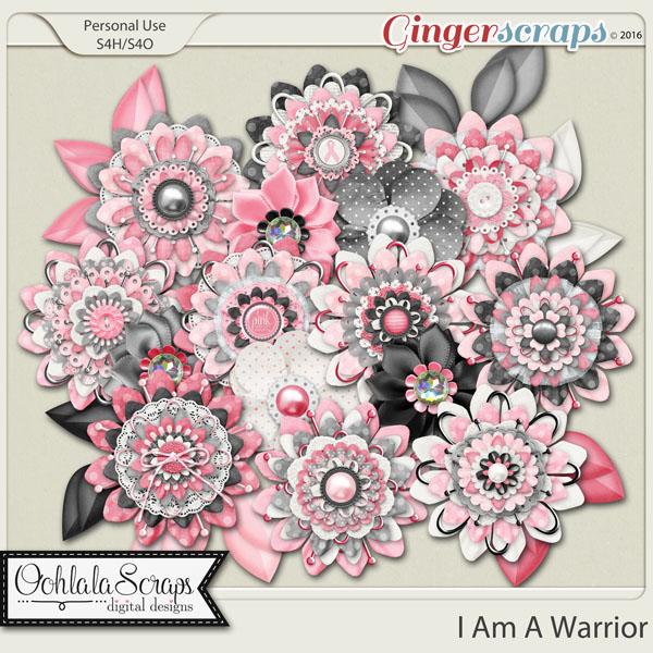 I Am A Warrior Layered Flowers