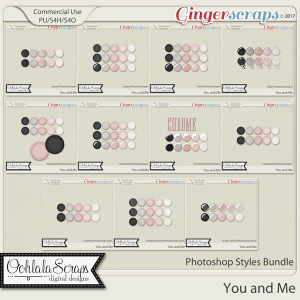 You and Me CU Photoshop Styles Bundle