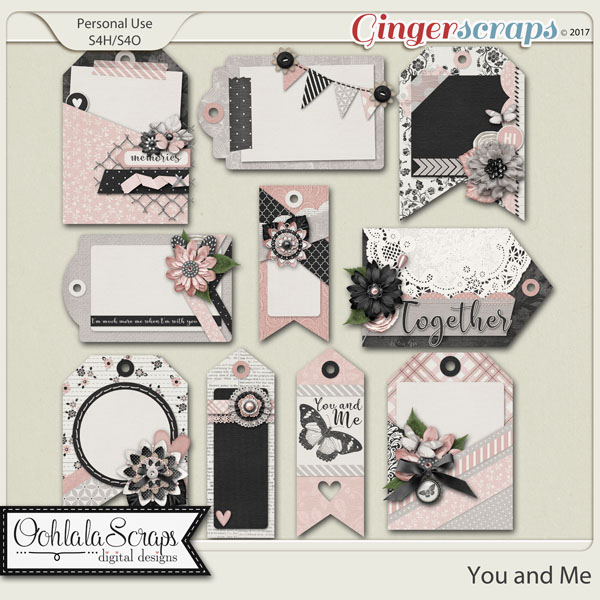 You and Me Decorative Tags