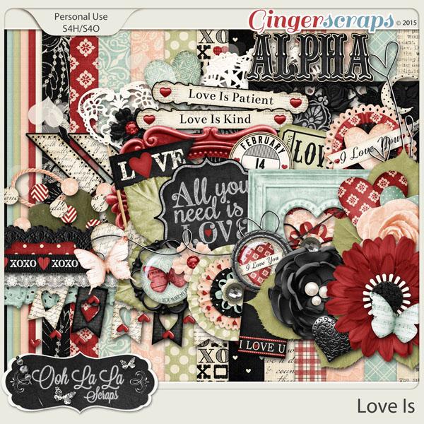 Love Is Digital Scrapbook Kit