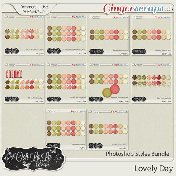 Lovely Day Photoshop Styles Bundle
