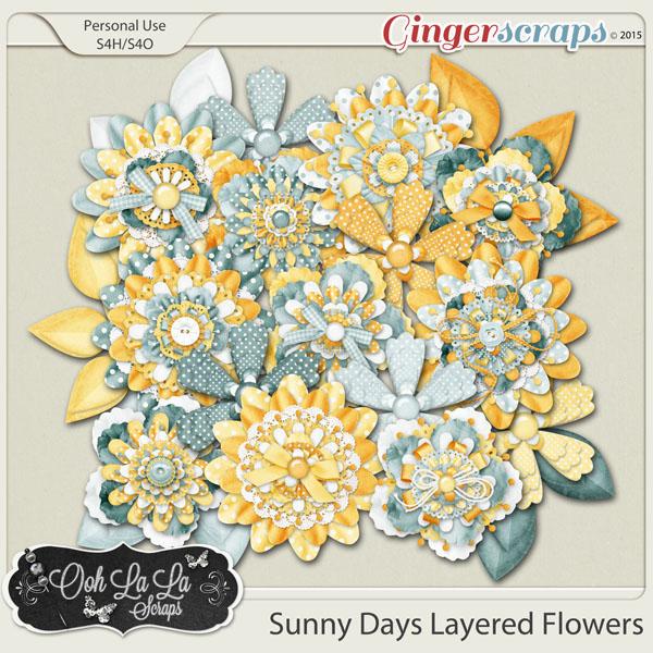 Sunny Days Layered Flowers