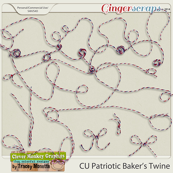 CU Patriotic Bakers Twine by Clever Monkey Graphics