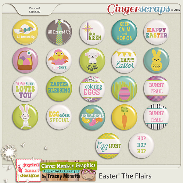 Easter! The Flairs by Clever Monkey Graphics