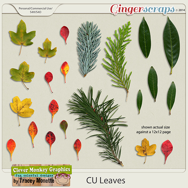 CU Leaves by Clever Monkey Graphics