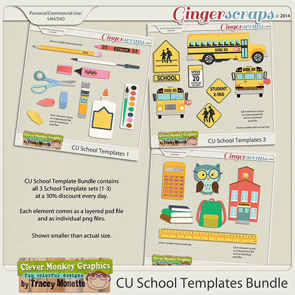 CU School Templates Bundle by Clever Monkey Graphics