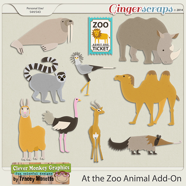 At the Zoo Animal Add-On by Clever Monkey Graphics