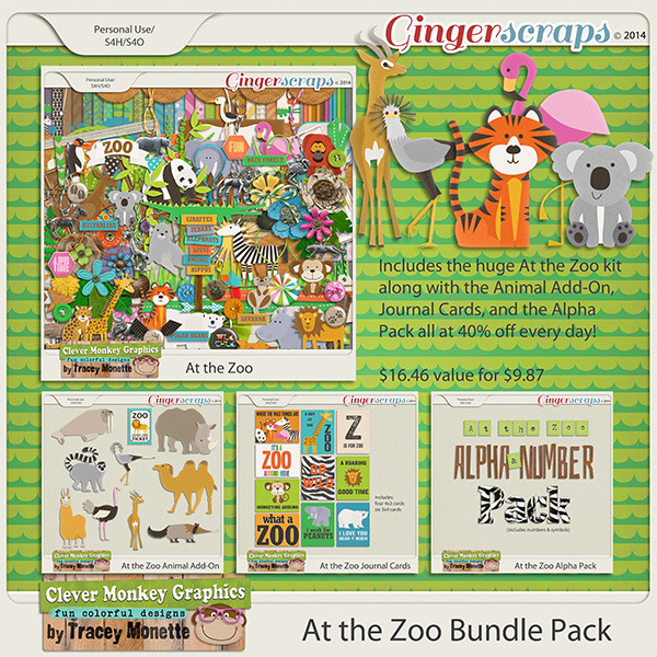 At the Zoo Bundle by Clever Monkey Graphics