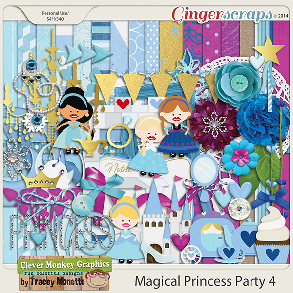 Magical Princess Party 4 by Clever Monkey Graphics