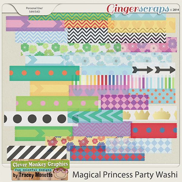 Magical Princess Party Washi Tape by Clever Monkey Graphics