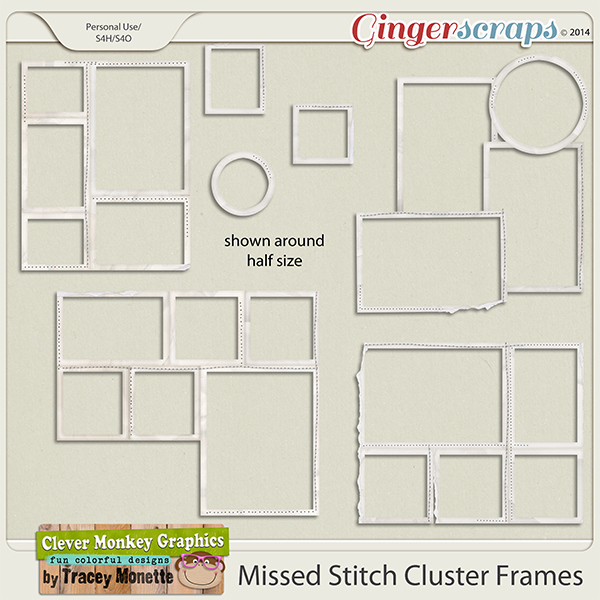 Missed Stitch Cluster Frames by Clever Monkey Graphics
