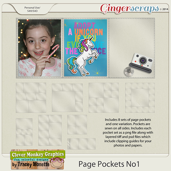 Page Pockets No1 by Clever Monkey Graphics