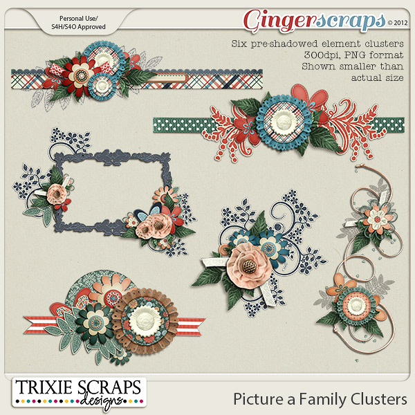 Picture a Family Clusters by Trixie Scraps Designs
