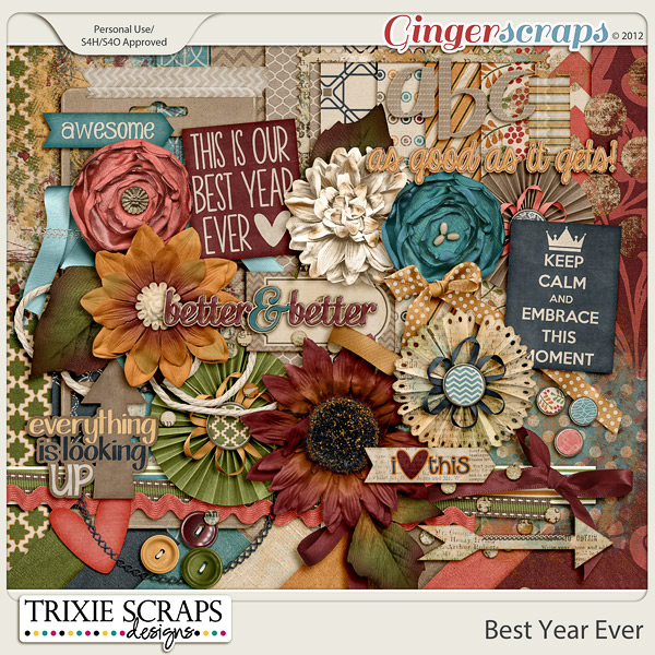 Best Year Ever Full Kit by Trixie Scraps Designs
