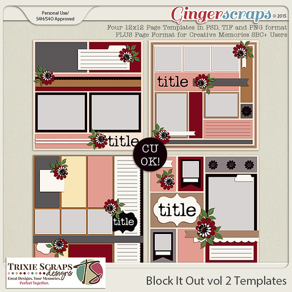 Block It Out vol 2 Template Pack by Trixie Scraps Designs