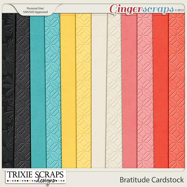 Bratitude Cardstock by Trixie Scraps Designs