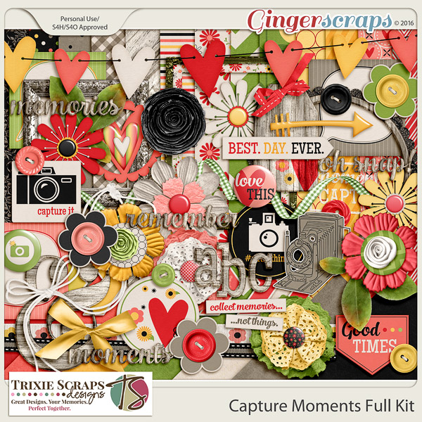 Capture Moments Full Kit by Trixie Scraps Designs
