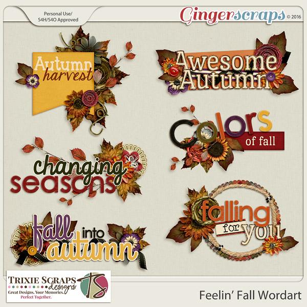 Feelin' Fall Wordart by Trixie Scraps Designs