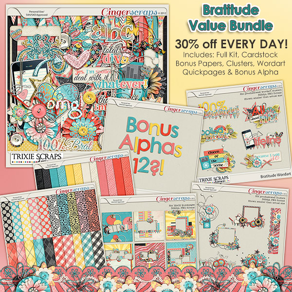 Bratitude Value Bundle by Trixie Scraps Designs