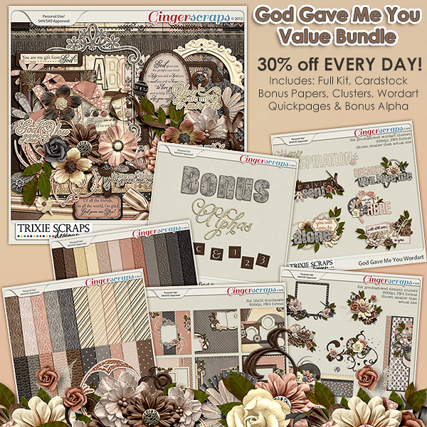 God Gave Me You Value Bundle by Trixie Scraps Designs