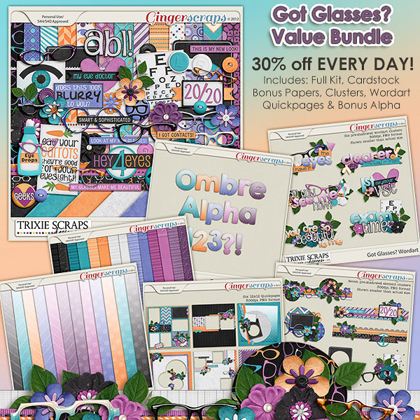 Got Glasses? Value Bundle by Trixie Scraps Designs