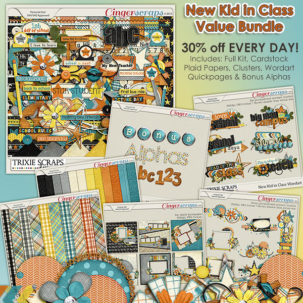 New Kid in Class Value Bundle by Trixie Scraps Designs