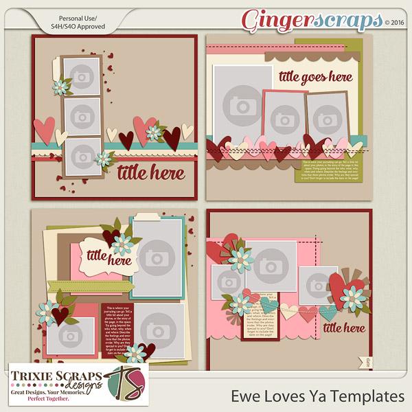 Ewe Loves Ya? Templates by Trixie Scraps Designs