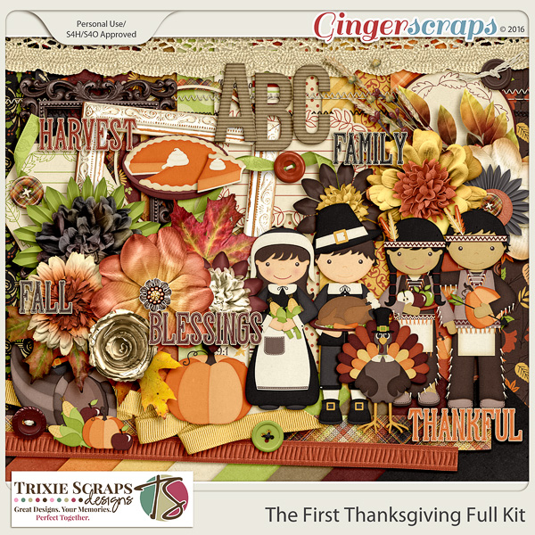 The First Thanksgiving Full Kit by Trixie Scraps Designs