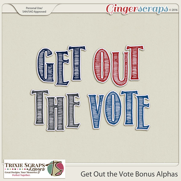 Get Out the Vote Bonus Alphas by Trixie Scraps Designs