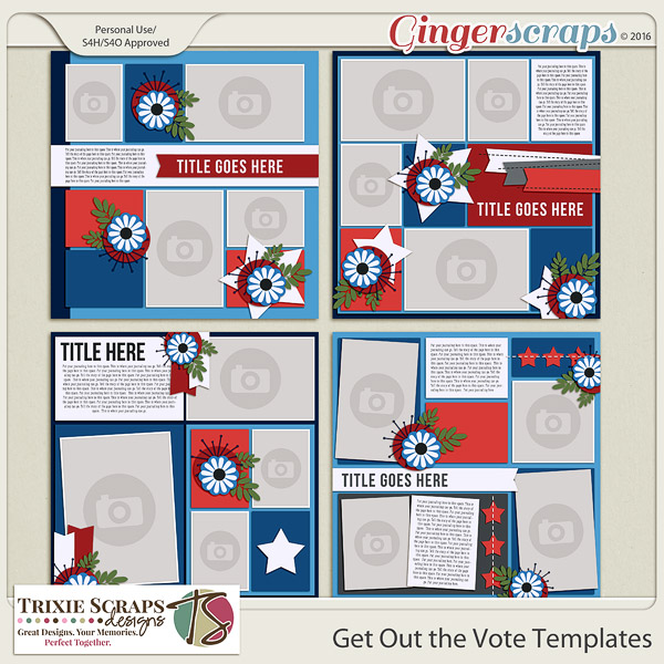 Get Out the Vote Templates by Trixie Scraps Designs