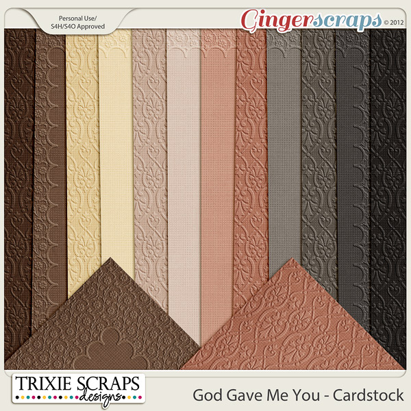 God Gave Me You Cardstock by Trixie Scraps Designs