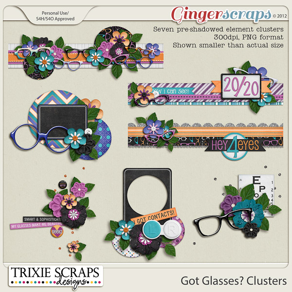 Got Glasses? Clusters by Trixie Scraps Designs