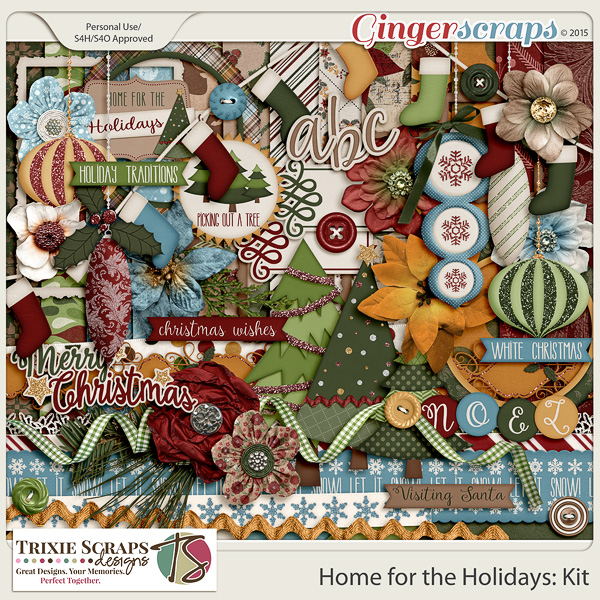 Home for the Holidays Full Kit by Trixie Scraps Designs