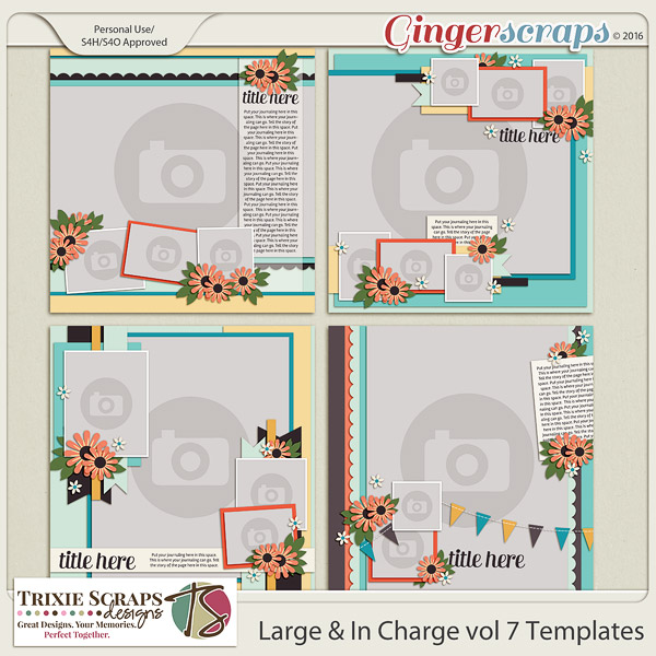 Large & In Charge vol 7 Template Pack by Trixie Scraps Designs