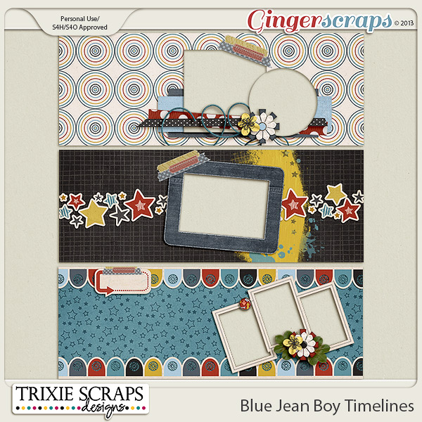 Blue Jean Boy Timelines by Trixie Scraps Designs