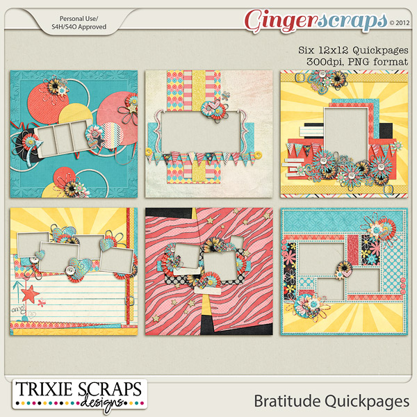 Bratitude Quickpages by Trixie Scraps Designs