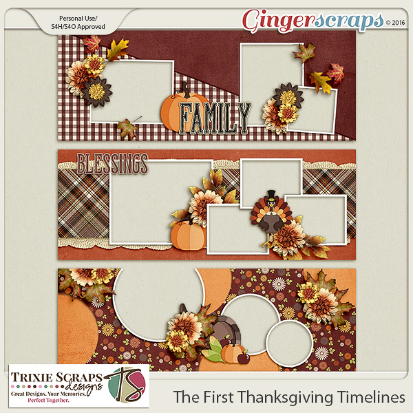 The First Thanksgiving Timelines by Trixie Scraps Designs