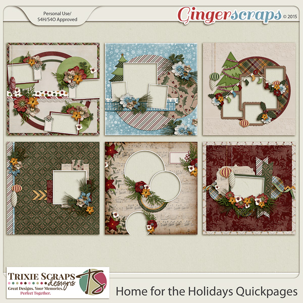 Home for the Holidays Quickpages by Trixie Scraps Designs