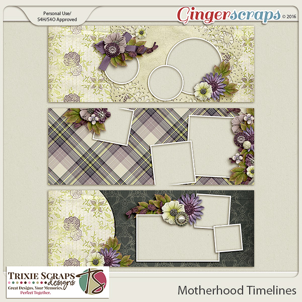 Motherhood Timelines by Trixie Scraps Designs