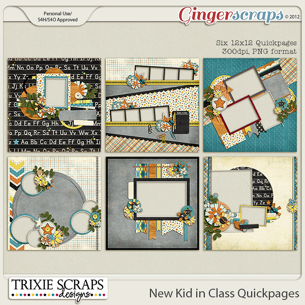 New Kid in Class Quickpages by Trixie Scraps Designs