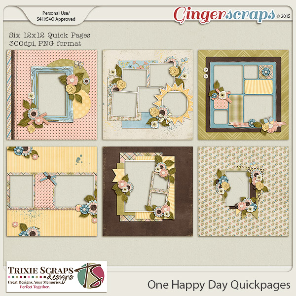 One Happy Day Quickpages by Trixie Scraps Designs