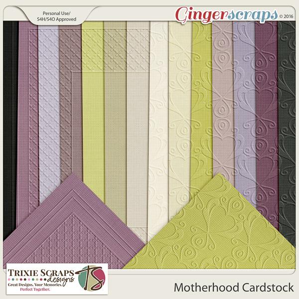 Motherhood Cardstock by Trixie Scraps Designs