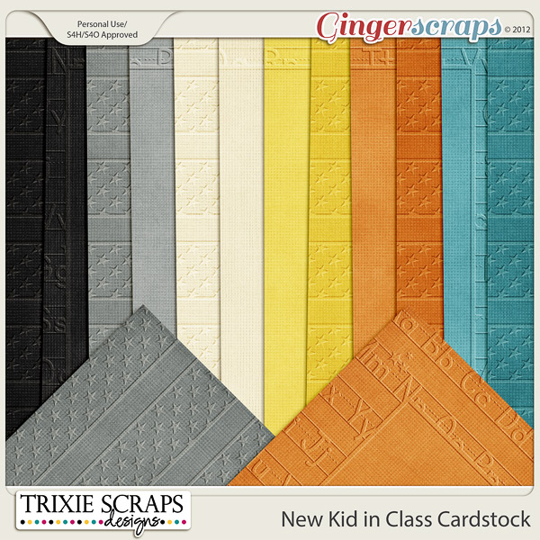 New Kid in Class Cardstock by Trixie Scraps Designs