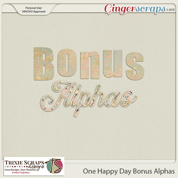 One Happy Day Bonus Alphas by Trixie Scraps Designs