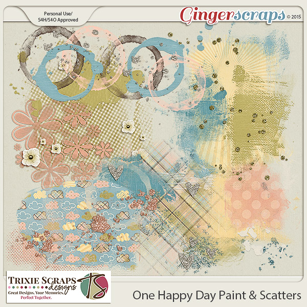 One Happy Day Paint & Scatters by Trixie Scraps Designs