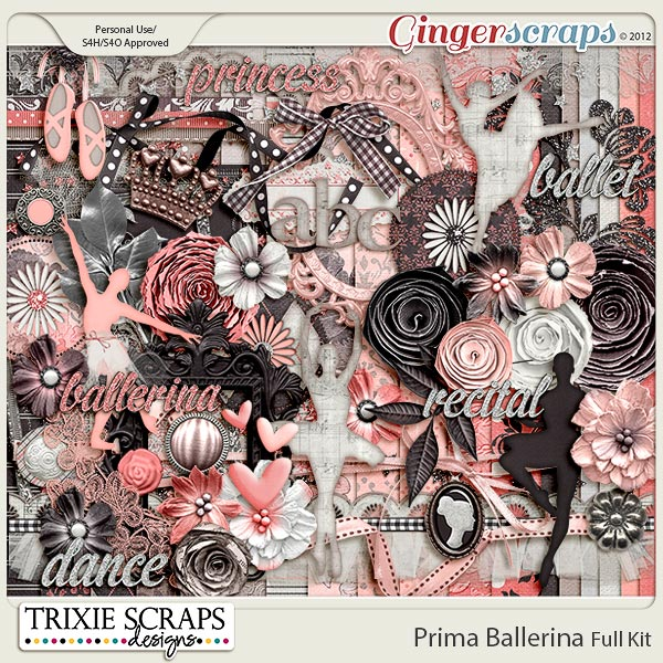Prima Ballerina Full Kit by Trixie Scraps Designs