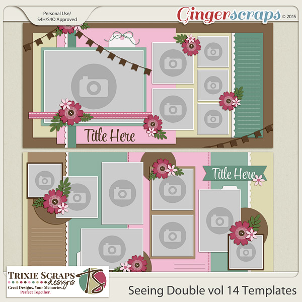 Seeing Double volume 14 Template Pack by Trixie Scraps Designs
