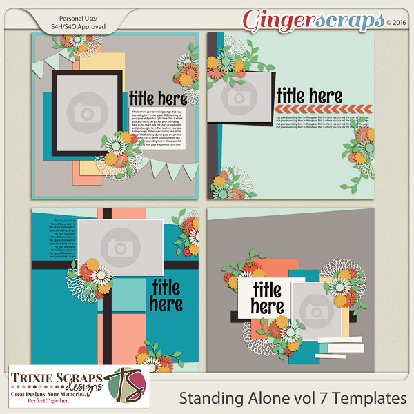 Standing Alone vol 7 Template Pack by Trixie Scraps Designs