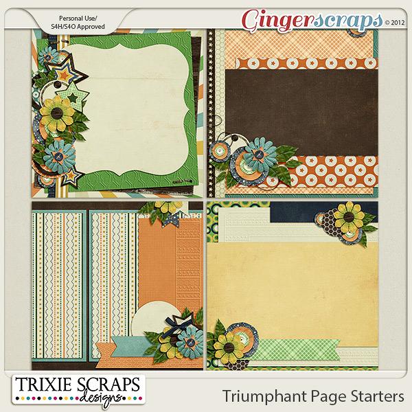 Triumphant Page Starters by Trixie Scraps Designs