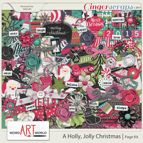 A Holly Jolly Christmas Page Kit